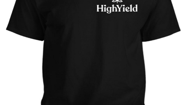 HighYield t-shirt black with white logo on left side