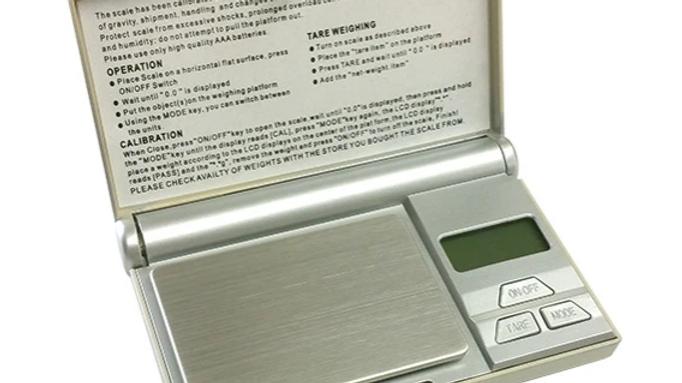 Silver color digital scale