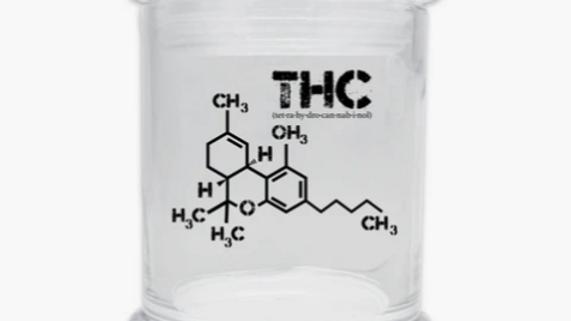 THC glass jar 6oz