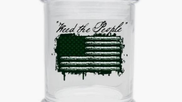 Weed the People glass jar 6oz
