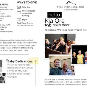 Peak Newsletter 18 April 2021