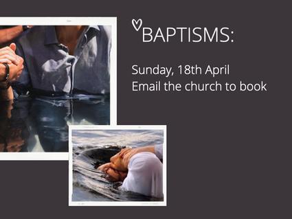 Get Baptised in April