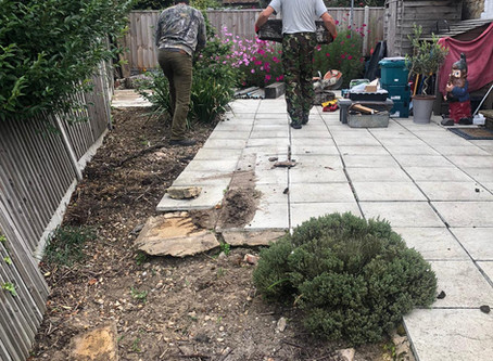 Landscaping With Raised Railway Sleeper Flower Beds