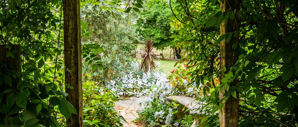 Garden features designed and built by craftspeople