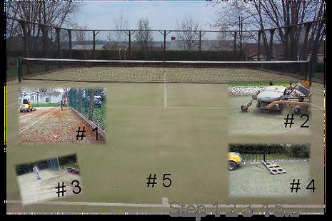 Etape d'entretien de tennis