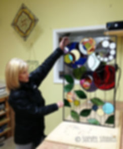 Custom abstract stained glass