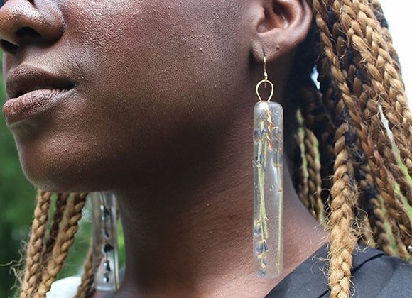 Lavender Herbal Earrings