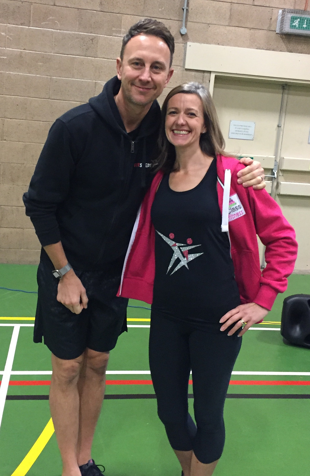 Our very own Fitsteps Instructor Di with Ian Waite