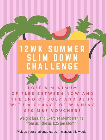 12 Week Summer Slim-Down Challenge