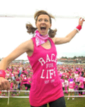 Warming up for Race For Life