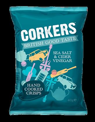 Corkers Sea Salt & Cider Vinegar Crisps 40g