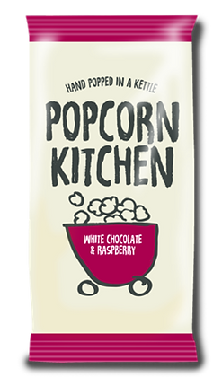 Popcorn Kitchen White Chocolate & Raspberry 30g