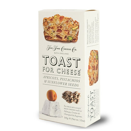Toast for Cheese - Apricots, Pistachios and Sunflower seeds
