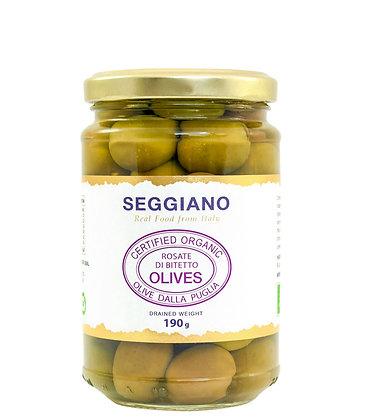 Seggiano Organic Rosate di Bitetto Olives 190g