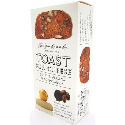Toast for Cheese - Quince, Pecan & Poppyseeds