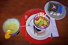 Schrimps Cocktail und Margarita