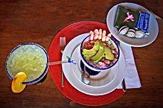 Coctel de Camarones y Margarita