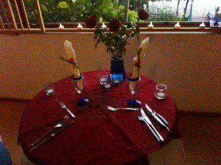 cena en la suite nupcial