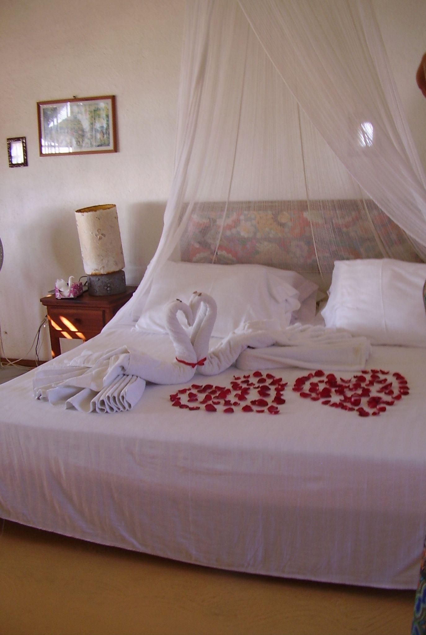 decoración cama nupcial en el Gilda