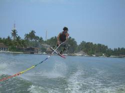 wakeboard in der Lagune