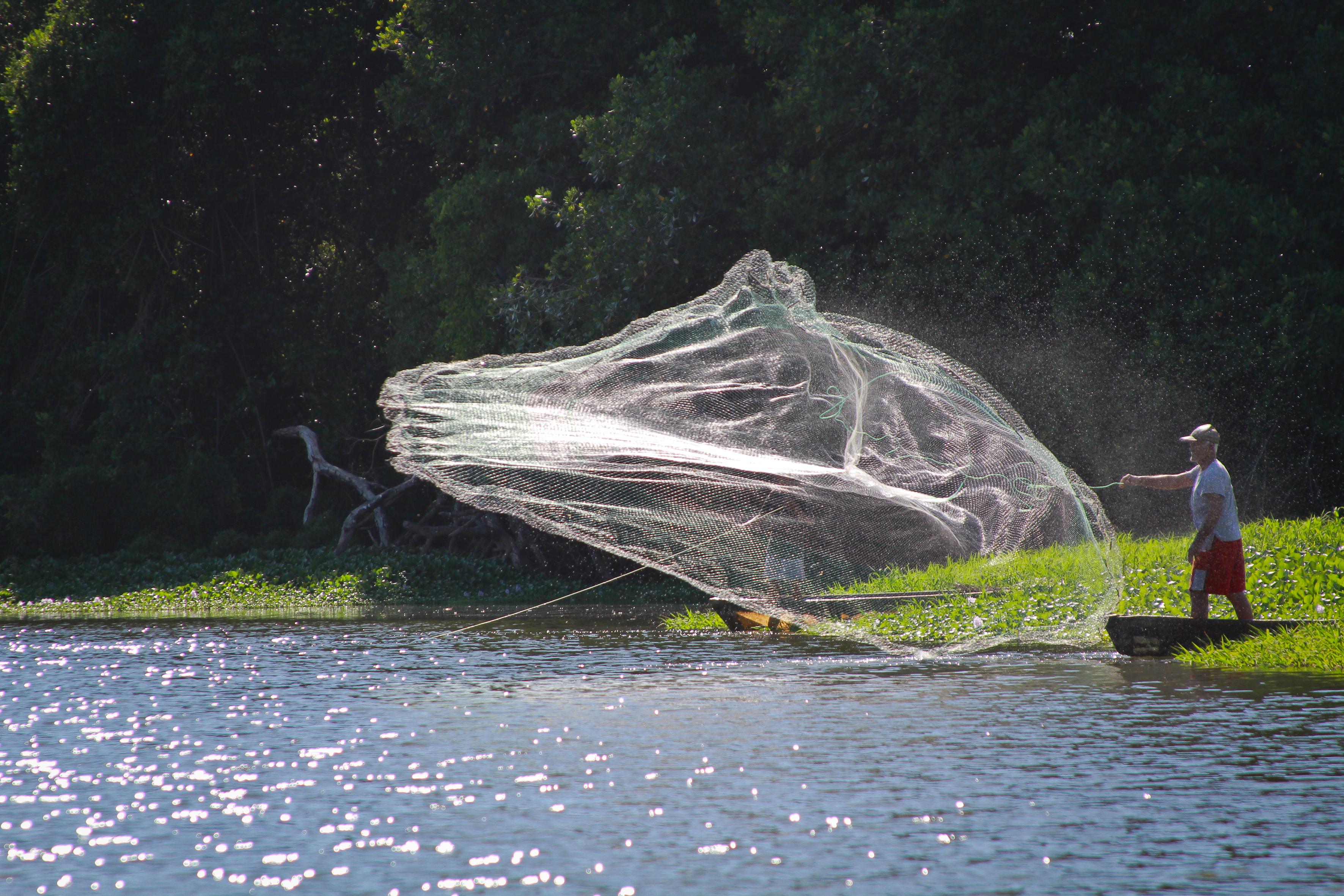 Fischen am Fluss