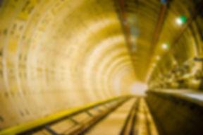 Soft focus of Underground tunnel.Transpo