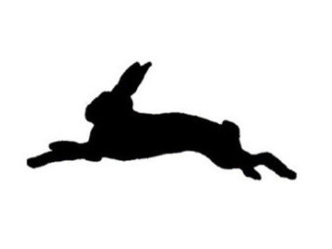 "Running Bunny Stencil 4"" x 6"""
