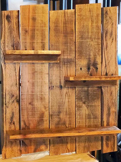 Natural Wood Planked Shelf