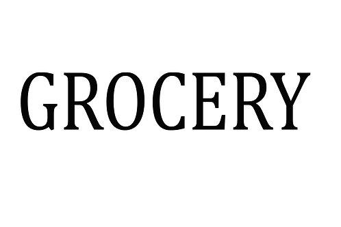 """Grocery Stencil - 6"""" x 24"""""""