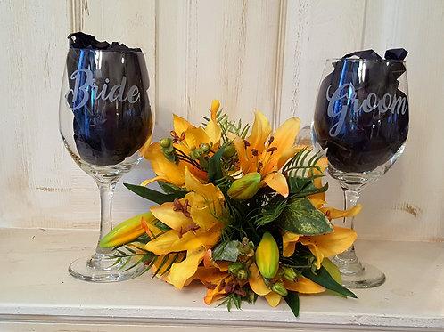 Bride & Groom Oversized Wine Glasses