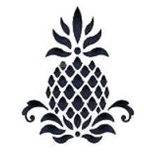 "Pineapple Stencil 6"" x 6"""