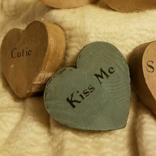 3 in Wood Hearts