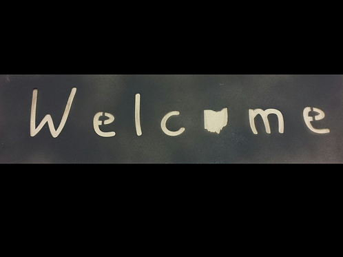 "Welcome - 6"" x 24"""