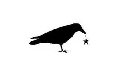 "Crow Stencil 4"" x 6"""