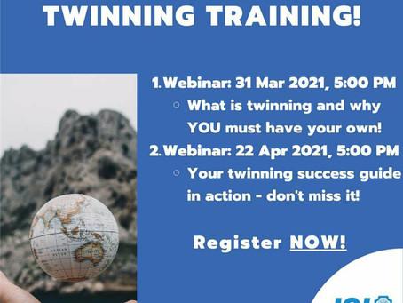 Welcome to twinning training!