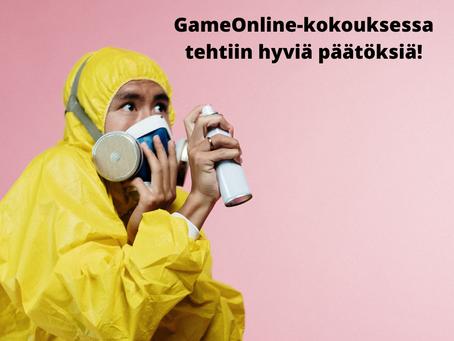 GameOnline-kokouksessa tehtiin hyviä päätöksiä