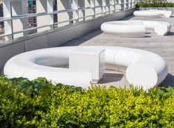 halo 06_kings-cross_london_roof_top_garden_white_modern_grp_fibreglass_furniture