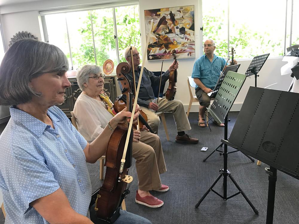 Violists participating in ANZVS Beethoven's Birthday Cafe Viola in Sydney