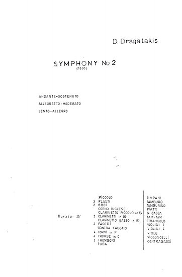 Symphony No. 2 (1960)
