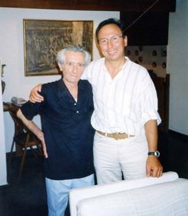 Photo of Thomas Tamvakos and Dimitris Dragatakis. Photo supplied by Thomas Tamvakos' Archive of Greek Classical Composers.