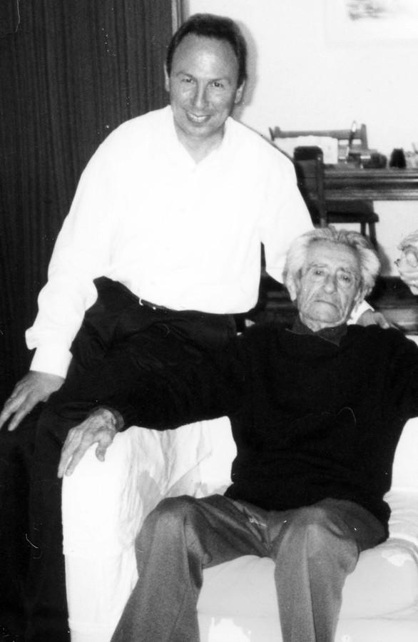 Photo of Thomas Tamvakos and Dimitris Dragatakis in 2001. Photo supplied by Thomas Tamvakos' Archive of Greek Classical Composers.