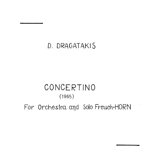 Concertino for Horn (1965)