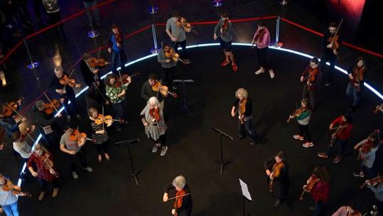 Viola Flash Mob: 44th IVC, 3/09/2017
