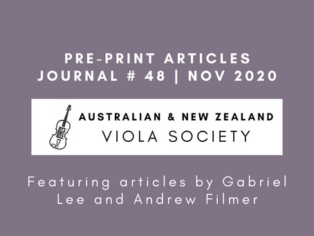 Pre-print articles out now and Journal No. 48 on its way!