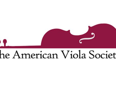 American Viola Society 2020 Festival POSTPONED