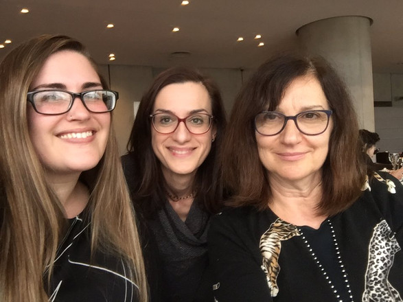 From left to right: Elyse Dalabakis, Magdalini Kalopana, Valia Dragataki-Koronidi (2018). Photo supplied by Elyse Dalabakis.