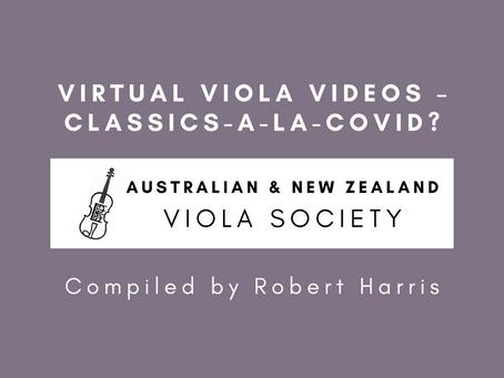 Virtual Viola Videos – Classics-a-la-COVID?