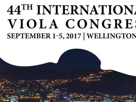 2017 44th International Viola Congress | Wellington, NZ