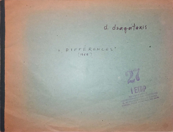 Diaphores (Differences) for Mixed Octet (1965)