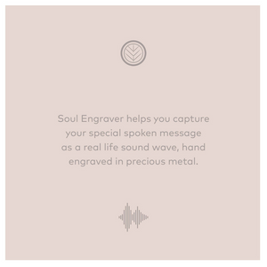 Soul Engraver helps capture voice messages in form of sound waves engraved on silver or gold jewellery